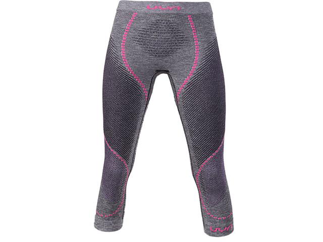 UYN Ambityon Melange UW Spodnie warstwa średnia Kobiety, black melange/purple/raspberry